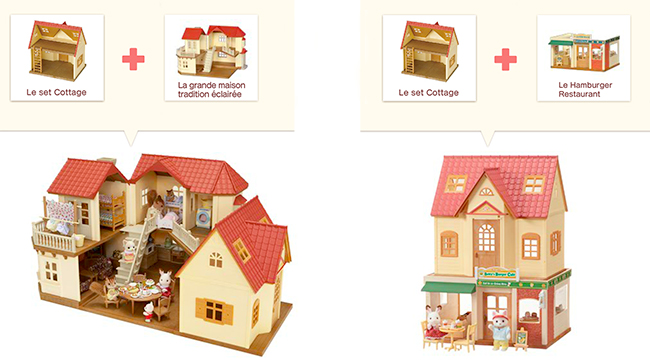 Sylvanian set cottage cozy de sylvanian for Sylvanian chambre parents