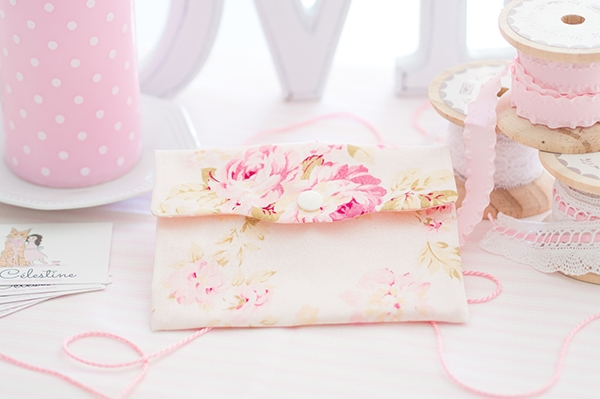 Petite pochette plate - Rose May