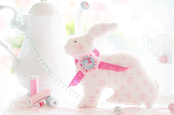 Lapin décoratif - Happiness