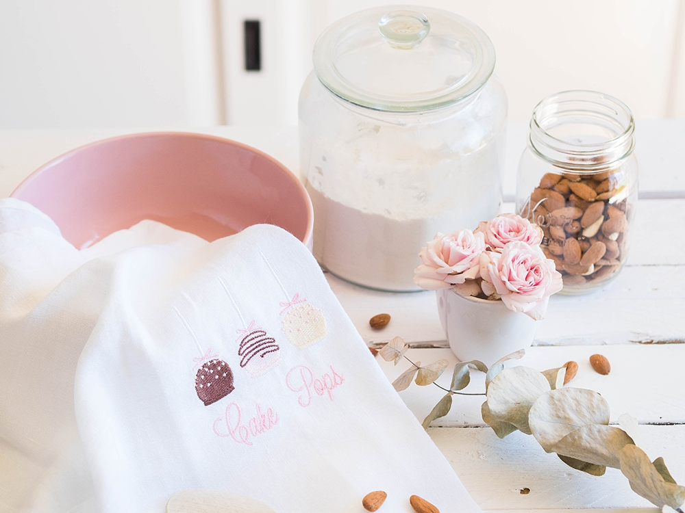 Tea Towel en lin lavé - Cake Pops