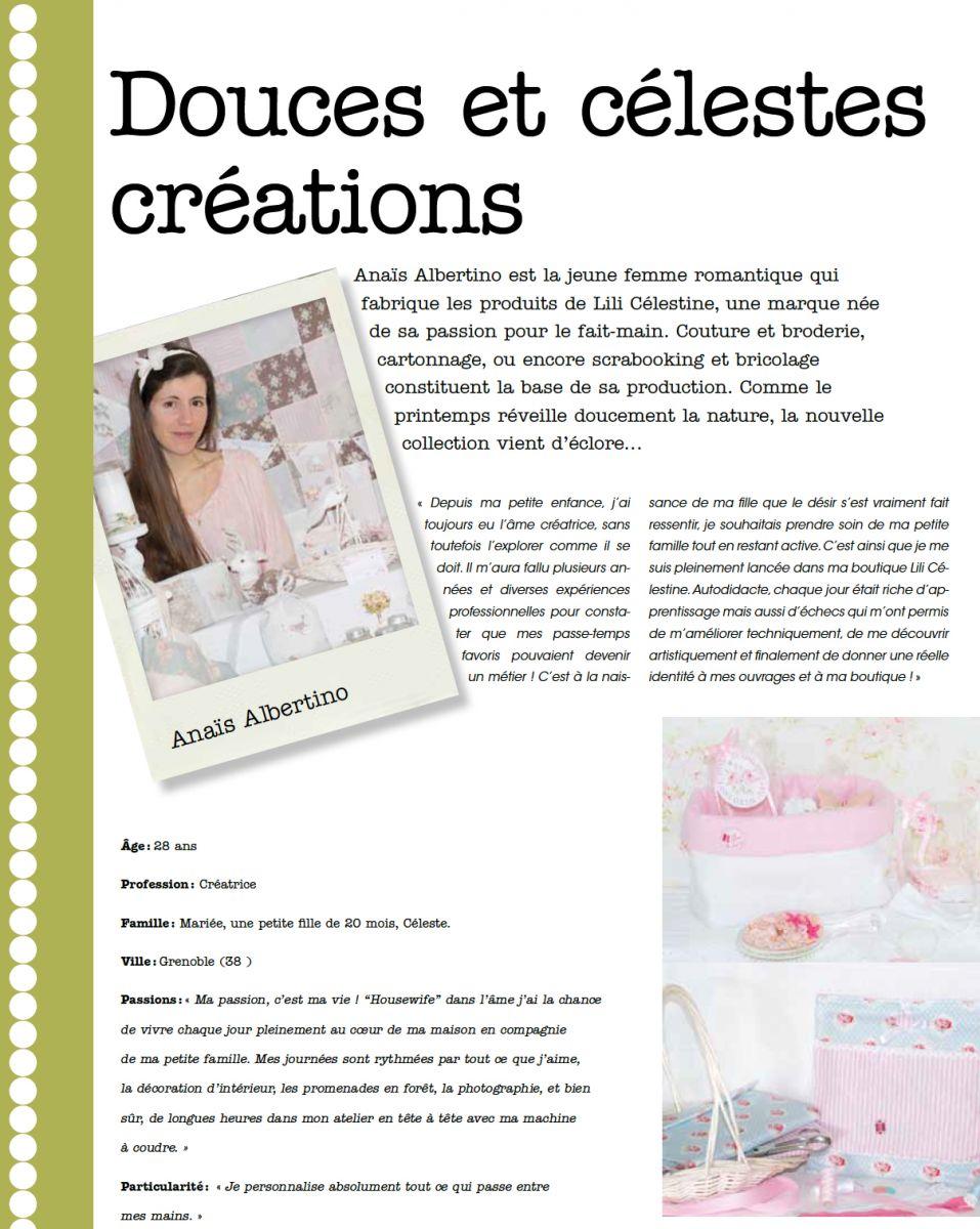 Anais Y Lili actualités de la boutique de créations faites main lili